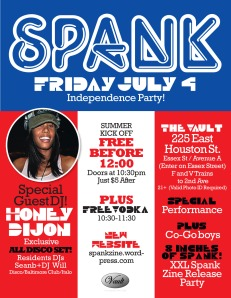 Spank July 4th Flyer
